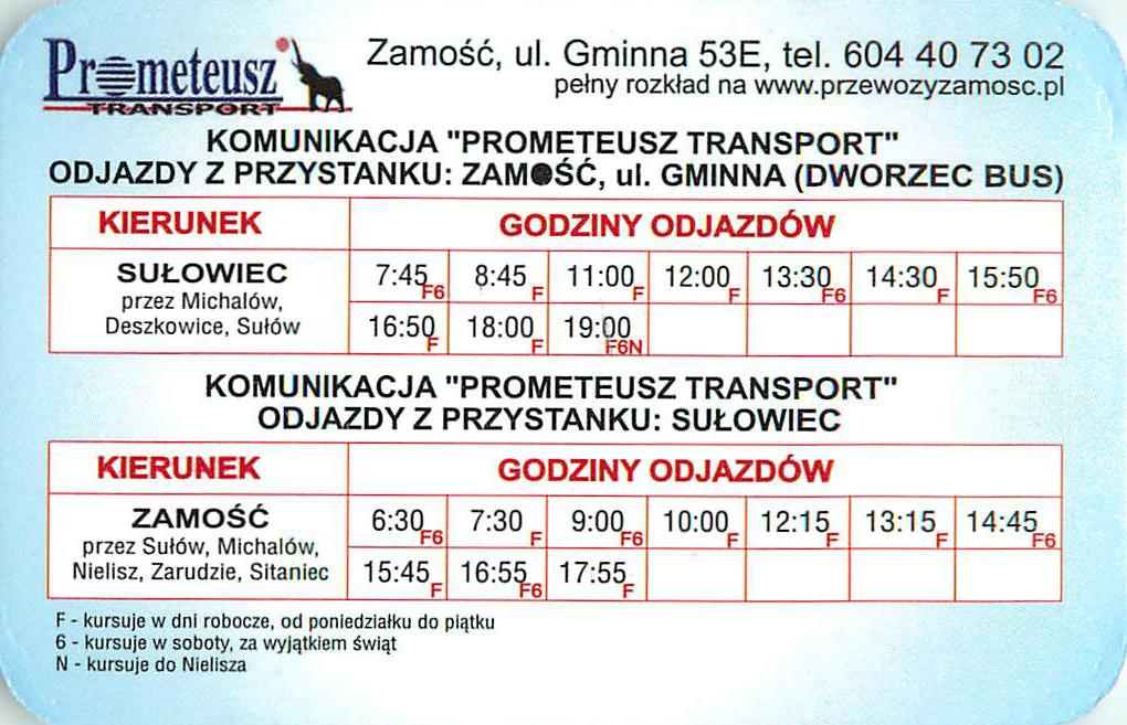Komunikacja w gminie Sułów